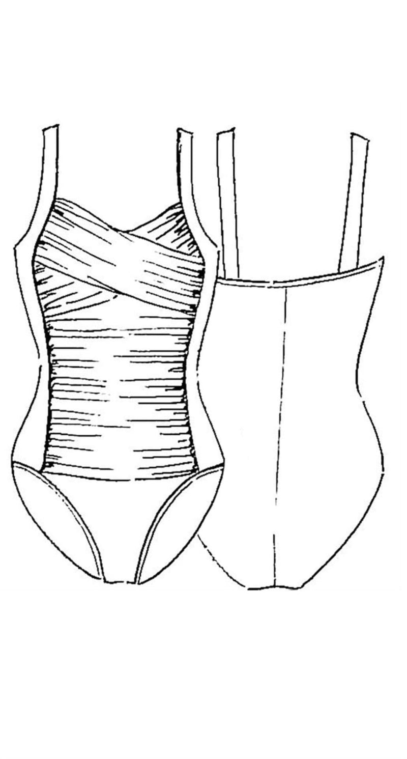 PAULA RYAN Crossover Ruched Swimsuit - Paula Ryan