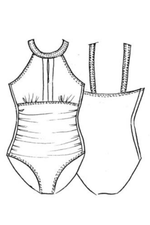 PAULA RYAN Zip Front Swimsuit - Paula Ryan