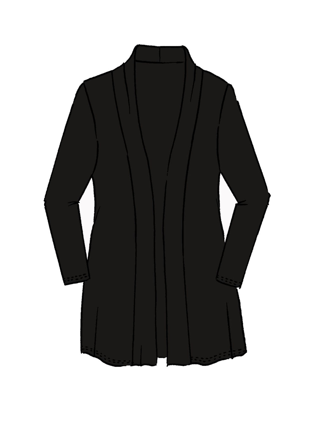PAULA RYAN ESSENTIALS Edge To Edge Waisted Cardigan - MicroModal - Jacket - Paula Ryan Essentials - Paula Ryan