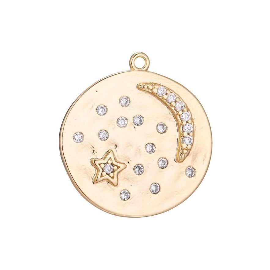Starry Night Coin Charm