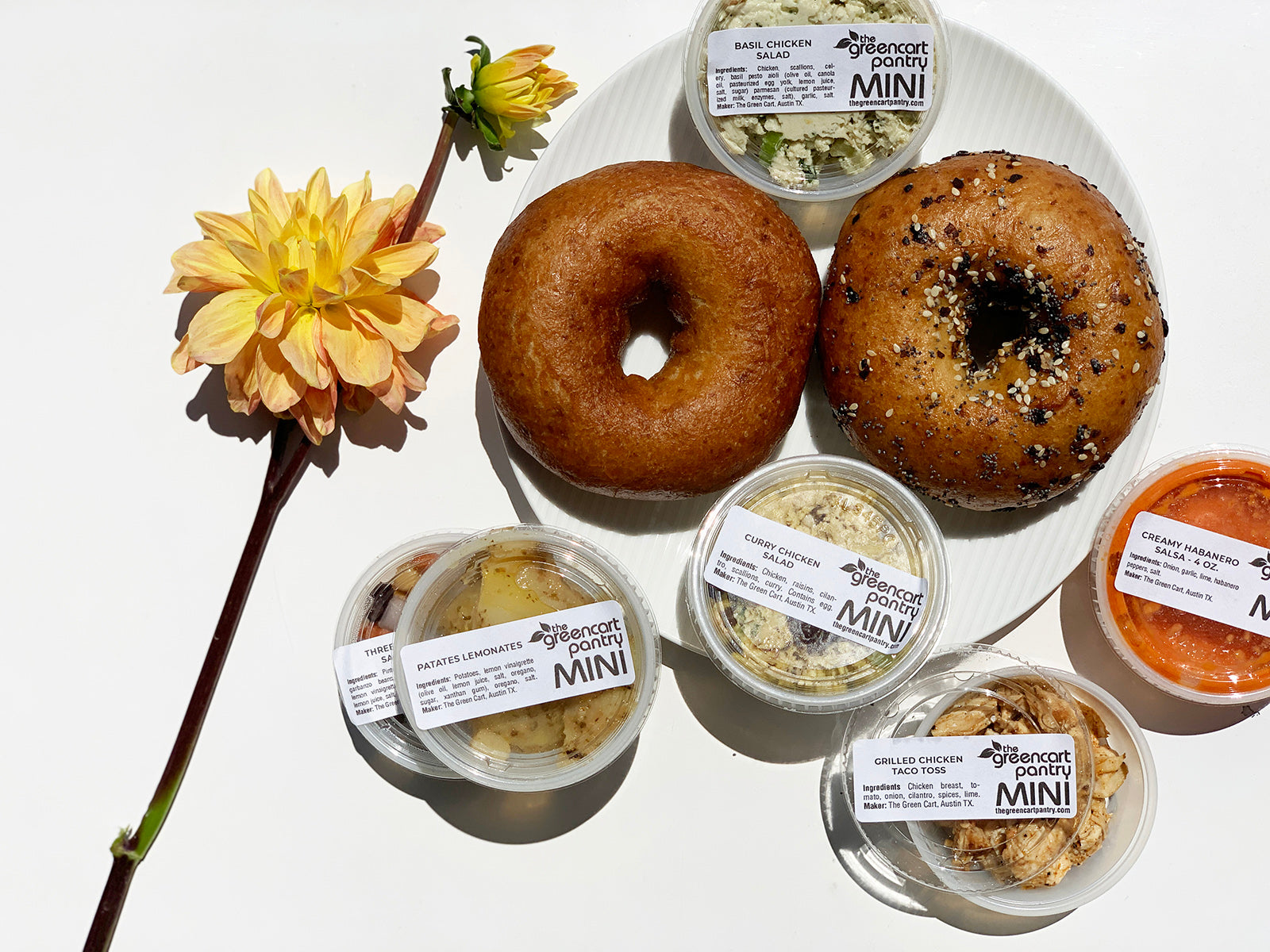 Gluten-free bagel special combo  - two bagels and MINI deli sides