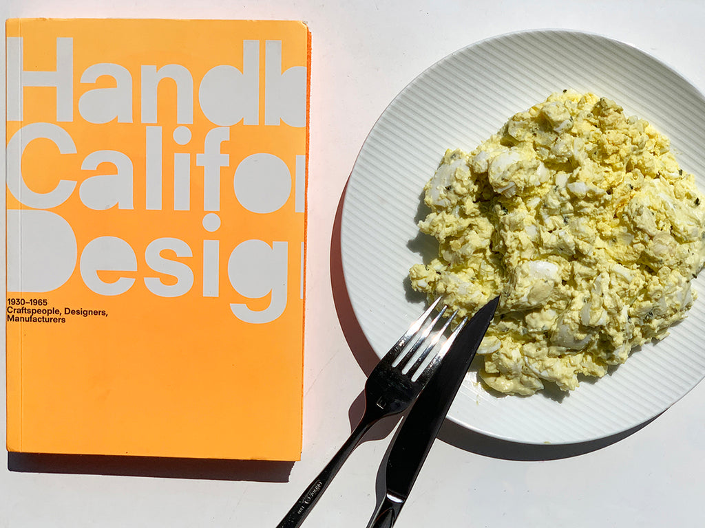 Almond Egg Salad by The Green Cart with design book