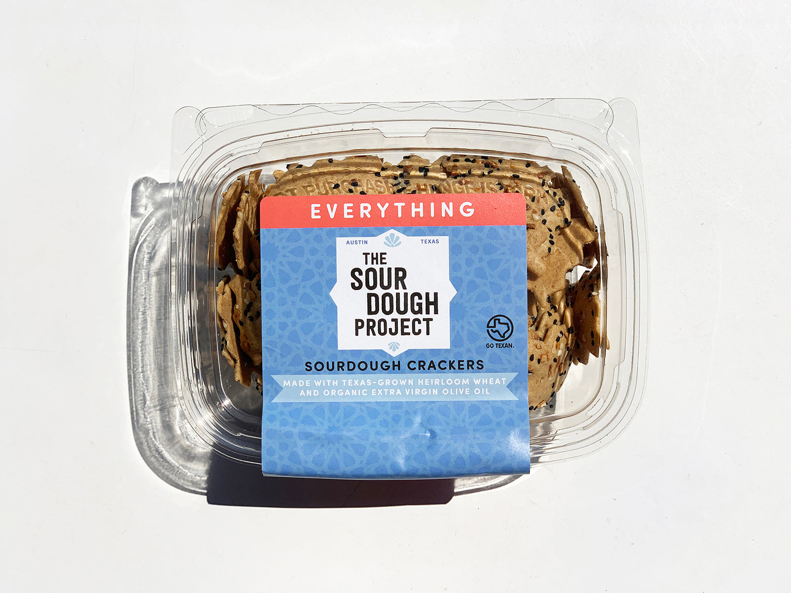 The Sourdough Project crackers in Everything flavor