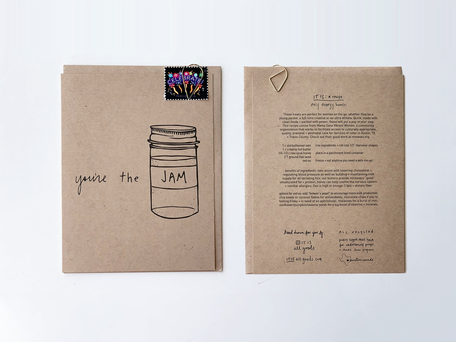 Handmade card: You're the Jam