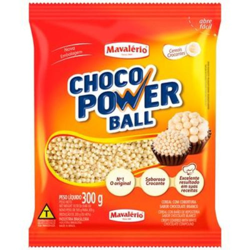 Cereal Micro Ball 300g Chocolate Branco Mavalério