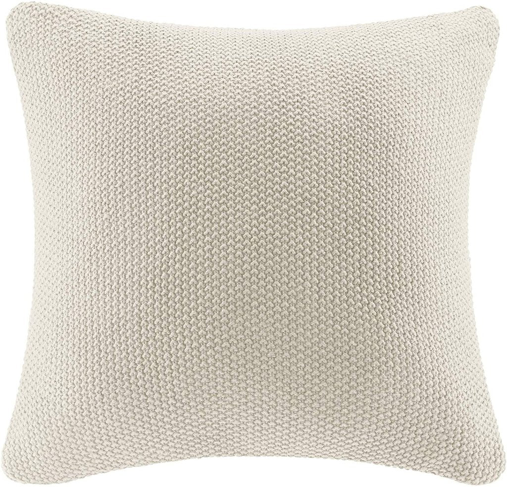 Set of 2 Bree Knit Square Pillow Cover IVORY
