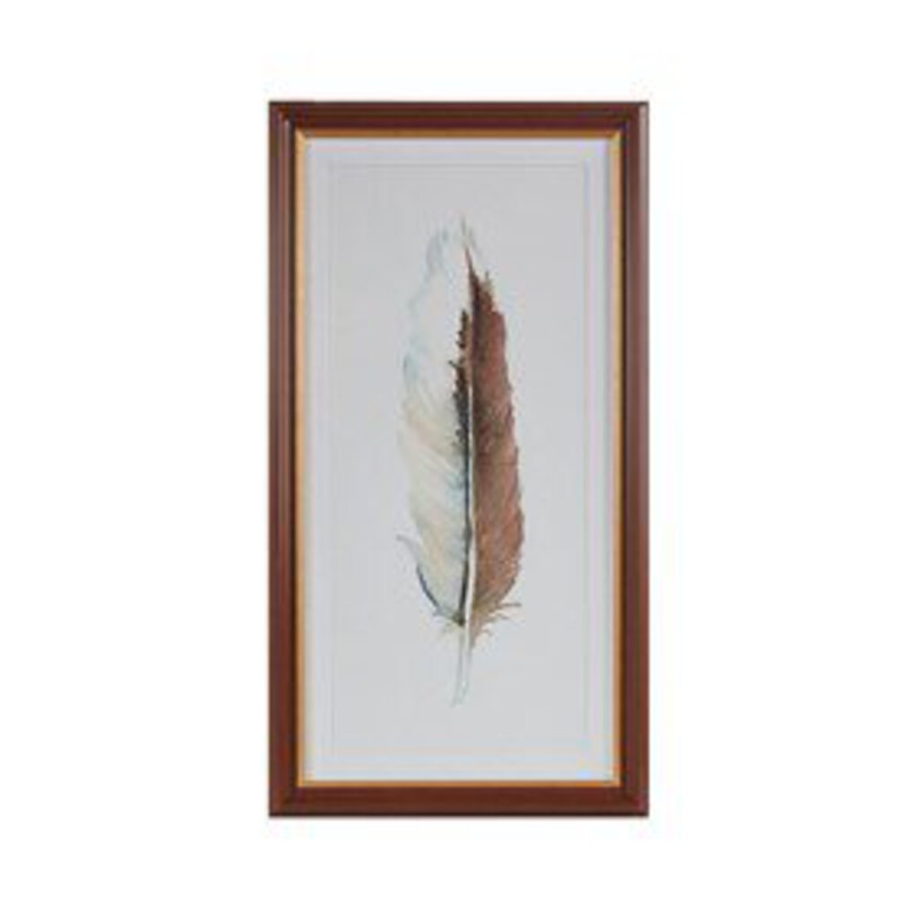 Feather Framed Glass Wall Art Style 2