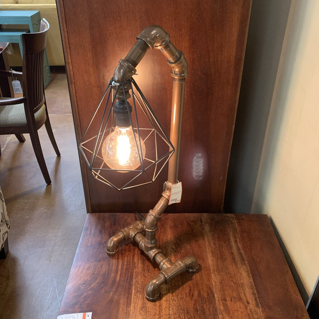 Industrial Lamp w/Diamond Cage and Powder Coat