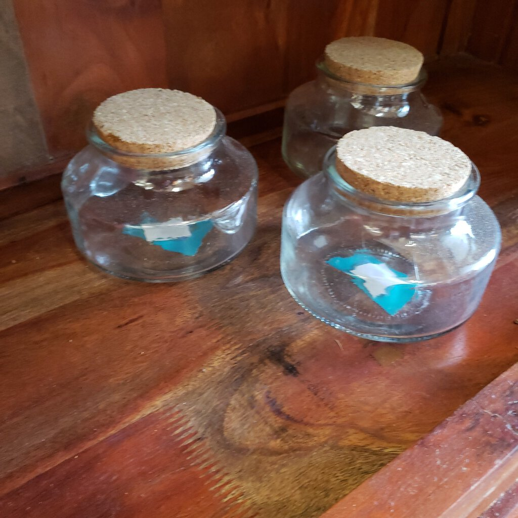 Glass Jar w/Cork Lid