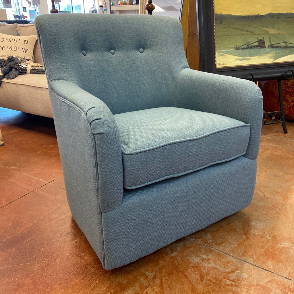 Adele Swivel Chair Blue