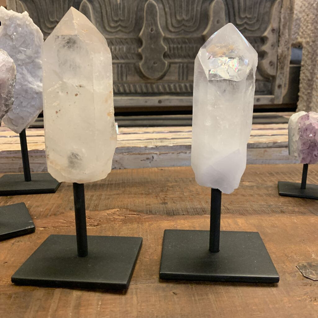Quartz Point on Pedestal - Small
