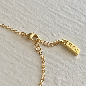 Bracelet Extension and Tag in gold