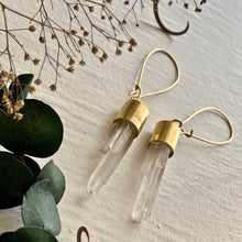 Load image into Gallery viewer, Crystal Drop Earrings with Gold Kidney Wire