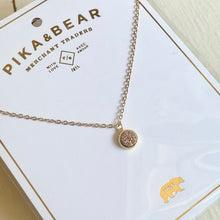 Load image into Gallery viewer, Dainty Druzy Pendant charm Necklace in Gold, Rose Gold