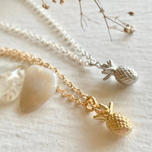 Load image into Gallery viewer, Tiny Pineapple Charm Necklace in Gold and Silver