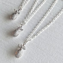 Load image into Gallery viewer, Tiny Pineapple Charm Necklace in Silver