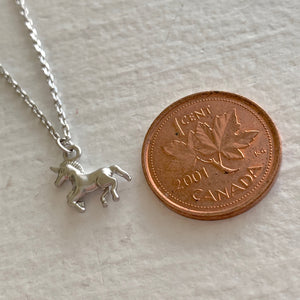 Unicorn Charm Necklace Silver