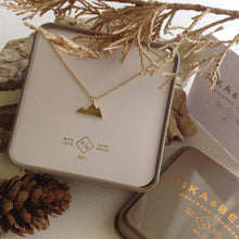 Load image into Gallery viewer, Sterling Silver and Gold Vermeil Minimal Mountain Charm Necklace