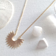 Load image into Gallery viewer, Tiny Sunburst Charm Necklace in Gold