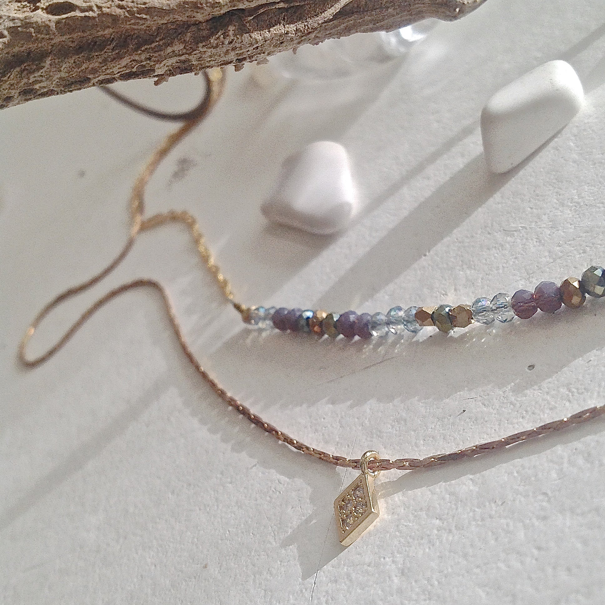 OBX Necklace Heishi Beads Pastel HEISHI Bead Necklace Outerbanks Beach Necklace