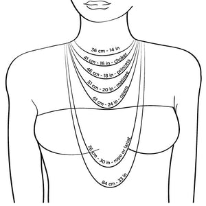 Necklace Length Diagram