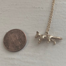 Load image into Gallery viewer, Tiny Gold Fox Charm Pendant Necklace