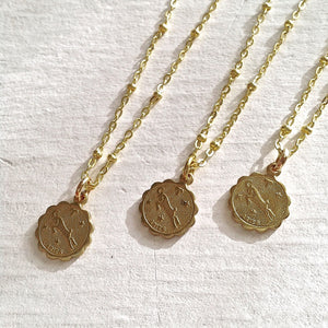 Zodiac Sign Astrological Charm Necklace Collection Aries