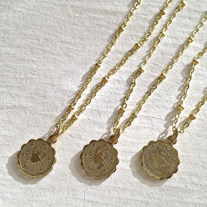 Zodiac Sign Astrological Charm Necklace Collection Cancer
