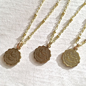 Zodiac Sign Astrological Charm Necklace Collection Gemini