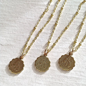Zodiac Sign Astrological Charm Necklace Collection LIbra