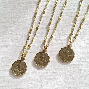 Zodiac Sign Astrological Charm Necklace Collection Capricorn