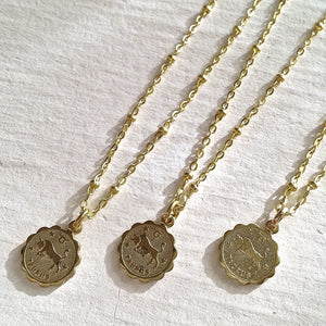 Zodiac Sign Astrological Charm Necklace Collection Taurus