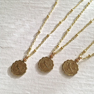 Zodiac Sign Astrological Charm Necklace Collection Virgo