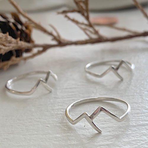 Mountain Ring in Sterling Silver
