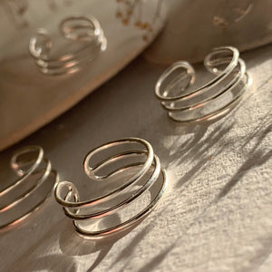 Sterling silver triple banded toe ring