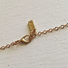 Load image into Gallery viewer, Pika and Bear Logo on Long Gold Necklace with Clasp