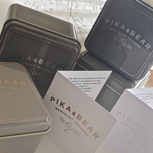 Pika & Bear Tin Gift Box Packaging