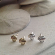 Load image into Gallery viewer, Gold and Silver Seashell Stud Earrings