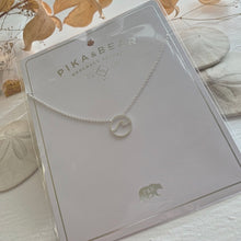 Load image into Gallery viewer, Cresting Wave Ocean Charm Necklace in Gold, SIlver and Rose Gold  Edit alt text