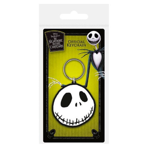 Nightmare Before Christmas - Porta-Chaves de Borracha Jack Face
