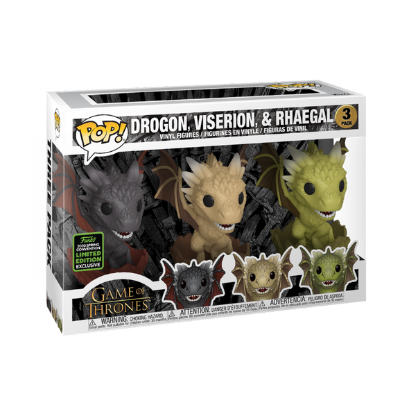 Game of Thrones - POP! Drogon, Viserion & Rhaegal