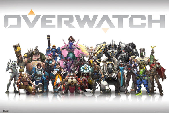 Overwatch - Poster Personagens Popstore