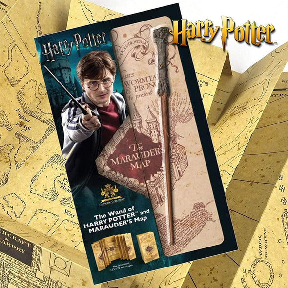 Harry Potter - Mapa Marauders Map & Varinha Harry Popstore