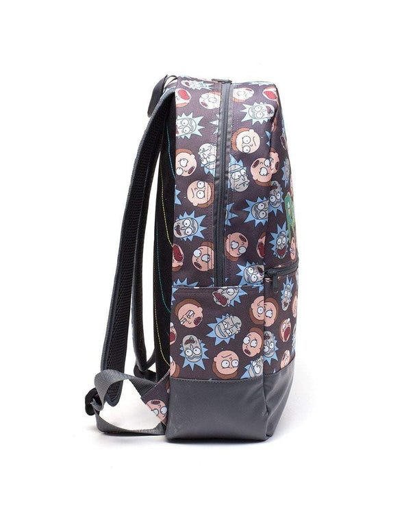 Rick And Morty - Mochila Logo & Big Faces Popstore