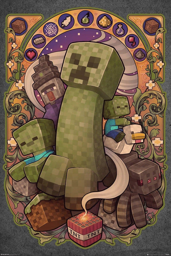 Minecraft - Poster Creeper - Popstore