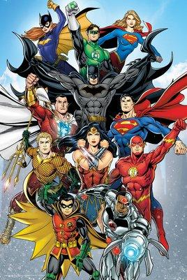 Justice League - Poster Personagens - Popstore