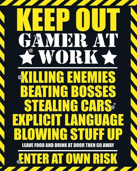 Gaming - Poster Gamer at Work Popstore