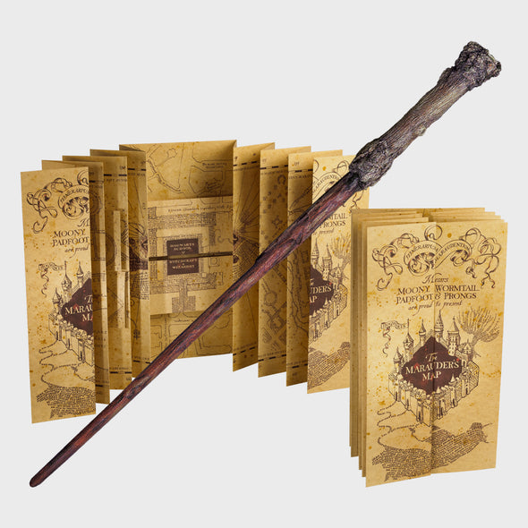 Harry Potter - Mapa Marauders Map e Varinha Harry