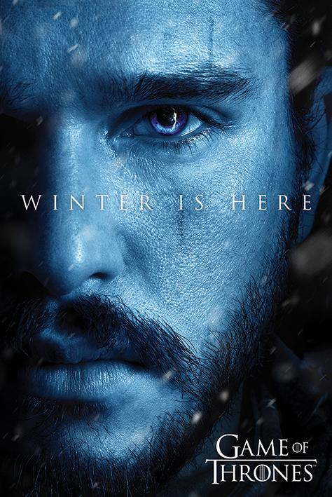 Game of Thrones - Poster Winter Is Here Jon Snow - Popstore