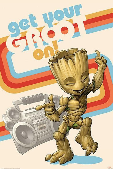 Guardiões da Galáxia - Poster Get Your Groot On Retro
